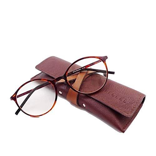 ビグラッド(BEGLAD) 老眼鏡 デミブラウン 度数:+1.50 【軽量 ブルーライトカット おしゃれなケース付】 BG4002D.BR