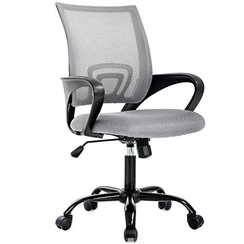 Office Chair Desk Chair Computer Chair Ergonomic Executive Swivel Rolling Chair Desk Task Chair with Lumbar Support for Women&Men, Grey