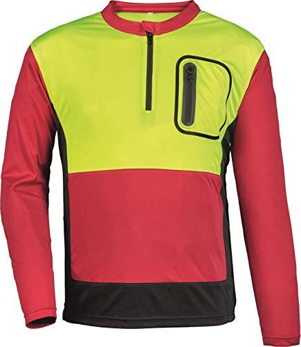 Watex Forstschutz Bundhose Forest Jack RED Schnittschutzhose Klasse1 (4XL, Shirt leuchtgelb-rot-grau)