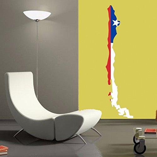 Chileense Vlag Kaart van Chili muur Vinyl Sticker Aangepaste Home Decoratie Muursticker Bruiloft Decoratie PVC Wallpaper Mode Ontwerp