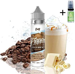 E Liquid Frappe Cold Brew White Chocolate Mocha 50ml - 70vg 30pg - booster shortfill +
