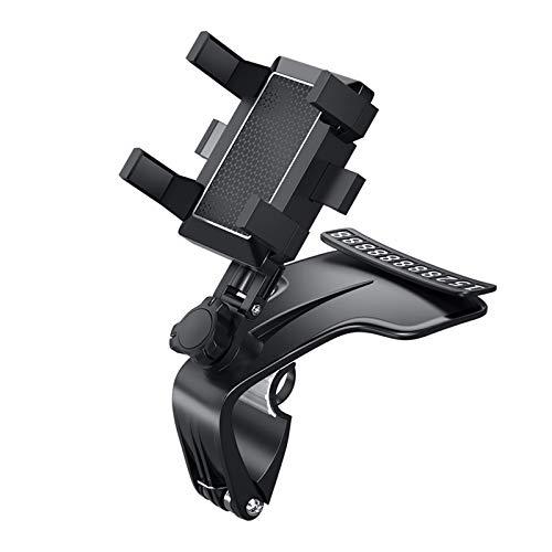xiangqian Soporte para teléfono móvil para coche, salpicadero de coche, soporte para teléfono móvil, 1200 grados, soporte para espejo retrovisor de coche, soporte de navegación GPS