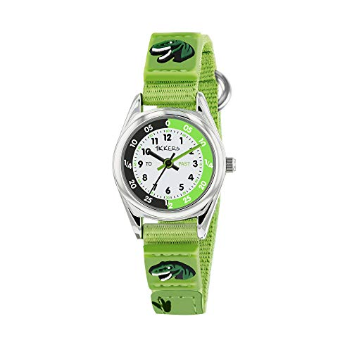 Tikkers Jungen Analog Quarz Uhr mit Stoff Armband TK0149
