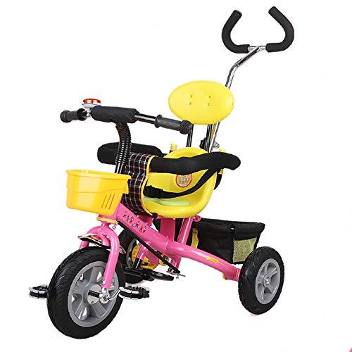 Bébé GUO@ Poussette 1-3 Ans Porte Titanium Roue Vide Chariot Tricycle LéGer pour Enfants