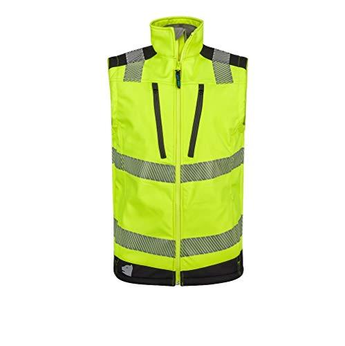 PRO FIT | Warnschutz Softshell-Weste | Neongelb/schwarz | Größe M | EN ISO 20471:2013 Klasse 2