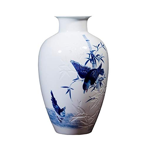 straight fire Pintado a Mano Cerámica de Jingdezhen Disposición Porcelana Azul y Blanca del florero Decoración China Fina de Neumáticos Inicio Sala de Estar Decoración Péndulo
