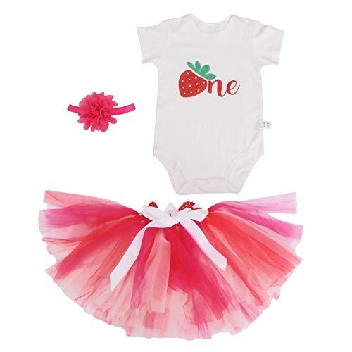 VALICLUD Macacão Subir Roupas de Bebê Padrão de Morango Criativo Algodão Bebê Saia Tutu Traje Vestido Bebê Menina Bodysuit Macacão