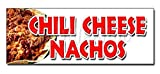 Chili Cheese Nacho Decal Sticker Snack Melted Mexican Food Tacos Tex Mex Sticker Sign - Sticker...