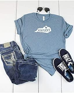 Kentucky State Home T shirt - Womens Unisex T shirt - Love Kentucky T shirt - Denim Colored T-shirt - Soft Tee