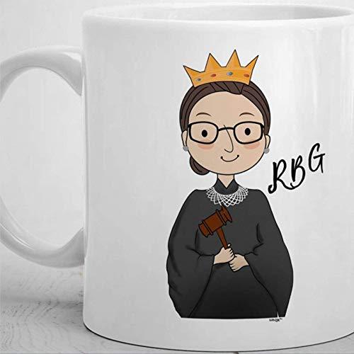 Rbg Ruth Bader Ginsburg Taza de café divertida para mujer, Bade ginsberg cita notoria linda feminista disidente girl power Taza de té de cerámica Taza de bebida de 11 oz para Acción de Gracias, Navida