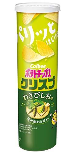 カルビー ポテトチップス クリスプ わさびしお味 115g ×12個