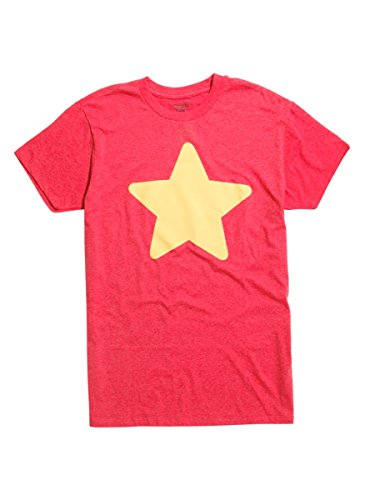 Hot Topic Steven Universe Star T-Shirt,Red,Large