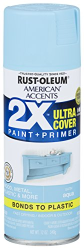 Rust-Oleum 327915 American Accents Spray Paint, 12 Oz, Satin Aqua