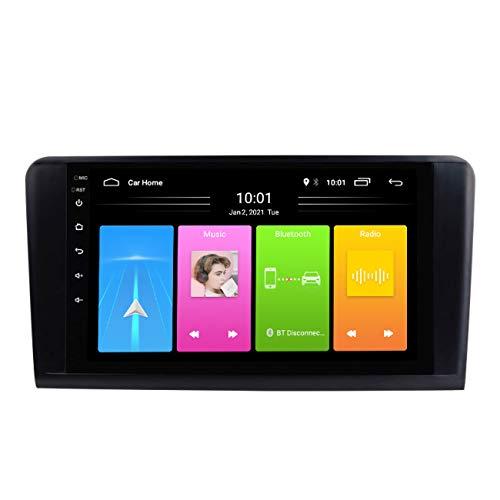 Radio de coche, Reproductor multimedia Android 10 Navegación estéreo con radio automática para BENZ ML 320 / ML 350 / W164 (2005-2012) GL, mapa sin conexión incorporado,Wifi 1g+16g