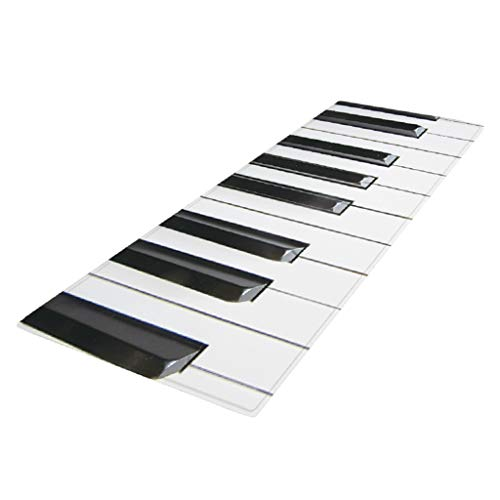 PETSOLA Schmutzfangläufer Schmutzfangmatte Küchenläufer rutschfeste Fußmatte Läufer für den Innenbereich, 120 x 40 cm - Klavier