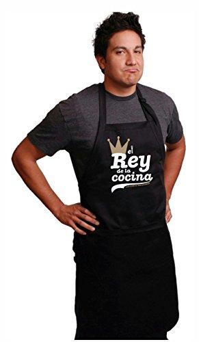 MISORPRESA Delantal para el Rey DE LA Cocina. Regalo Dia del Padre. Regalo para PAPÁ