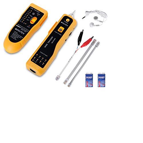 Incutex Netzwerk-Kabel-Tester, RJ45 und RJ11, testet Open/Short terminals sowie Straight- Through oder Crossover, von Marke (Kabelfinder)