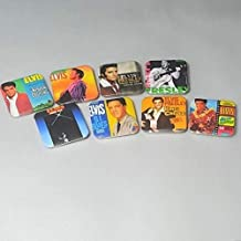 Elvis Presley Graceland Fridge Magnet Set Gifts Artwork Gospel Albums Greatest Hits G.I. Blues Movie Nashville Country Girl Birthday Decor