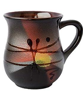 Pottery coffee mug «Sunrise» 10 fl oz