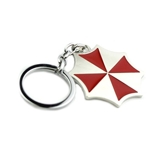J&C Family Owned J&C Resident Evil Umbrella Corp. Logo Keychain with Gift Box