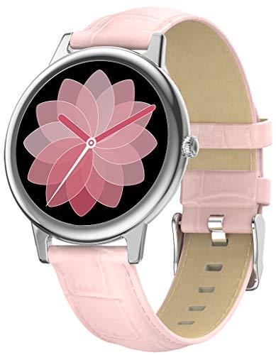 Smartwatch Damen Pulsmesser Sport Schwarz Fitness Armband Tracker Uhr mit Blutdruckmessung Bluetooth IOS Android Schrittzähler Wasserdicht