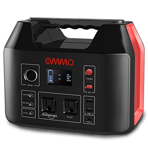 OMMO 500W Portable Power Station 150000mAh Solar Generator, 555Wh Lithium Battery with 110V AC Outlet/DC/USB/USB-C, Battery Power Supply for Outdoor, Camping, RV, Travel, Emergency CPAP Generators