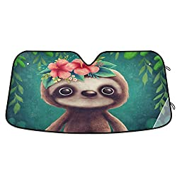 Sloth Car Windshield Sun Shade
