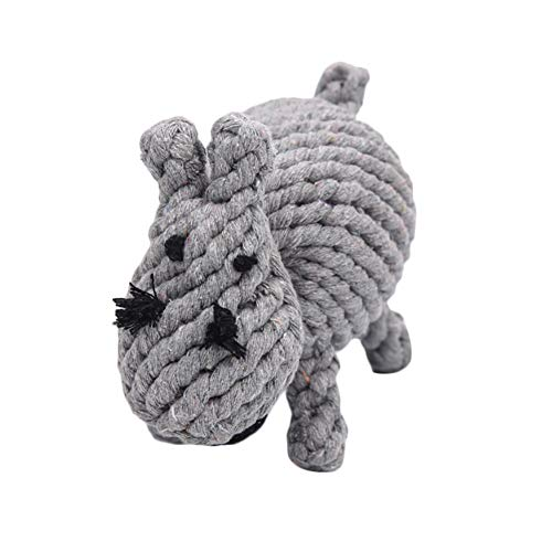 Emorias 1 x Kratzbaum für Hunde, Grau, Nilpferd, Kauspielzeug für Katzen, Beißen, Haustiere, Training, Zubehör