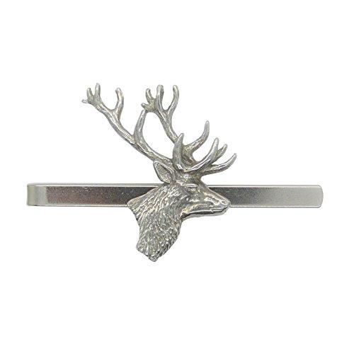 Pince à Cravate Tête de Cerf - Fait à la Main en Etain - Fabrication Française
