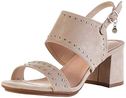 XTI 35194.0, Zapatos de tacón con Punta Abierta Mujer, Beige Beige Beige, 39 EU