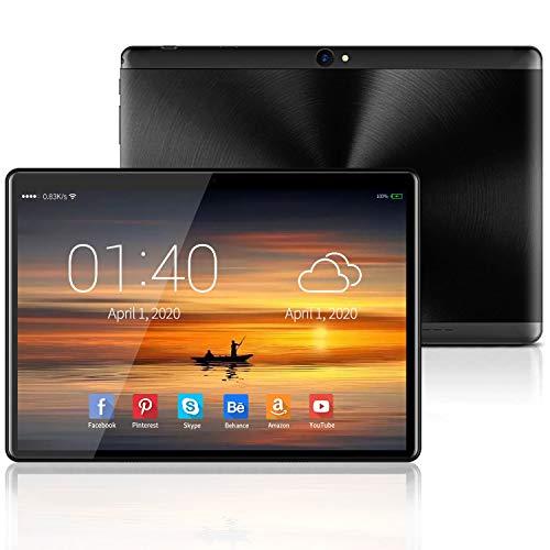 4G Tablets 10.1Pulgadas Android 9.0 GO, Certificación Google GMS, 4GB RAM +64GB/128 ROM, Type-C 8000mAh 8MP Tablet PC Quad Core Dual SIM Bluetooth/GPS/OTG/ Netflix/Google Play (Negro)