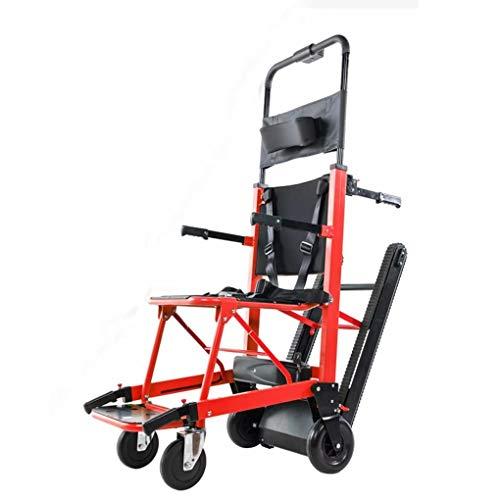Sillas de ruedas autopropulsadas Luz plegable eléctrica Compacta Silla de ruedas eléctrica Móvil Escalera auxiliar móvil Escalera apoyabrazos ajustable para ancianos Subiendo y bajando las escaleras
