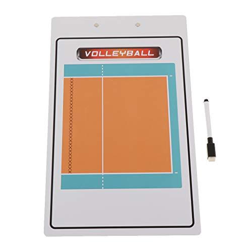 SM SunniMix Tablero de Entrenamiento de Baloncesto Portapapeles de Entrenadores Universales - Voleibol, Tal como se Describe