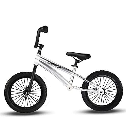 XGYUII Bicicleta de equilibrio sin pedal con ruedas de goma de 16 pulgadas de aluminio para 6 7 8 9 10 años de edad niños de montaje rápido