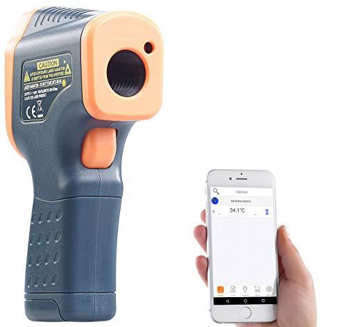 AGT Temperaturmesser: Profi-Infrarot-Thermometer mit Laser, -50 bis +600 °C, LCD, Bluetooth (IR Thermometer)