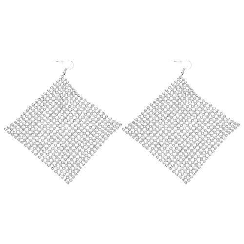 VALICLUD 1 par de Pendientes de Diamantes de Imitación Pendientes de Moda para Mujer Pendientes Largos Accesorios de Oreja