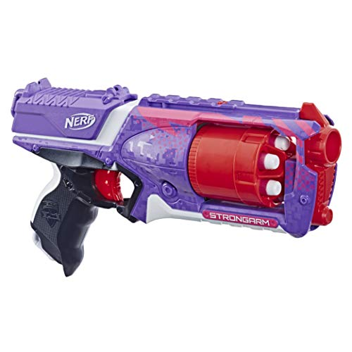 Strongarm Nerf NStrike Elite Toy Blaster with Rotating Barrel Slam Fire and 6 Official Nerf Elite Darts for Kids Teens and Adults Amazon Exclusive