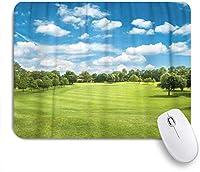 NINEHASA 可愛いマウスパッド コースグリーンゴルフフィールドとブルークラウディスカイヨーロピアン ノンスリップゴムバッキングコンピューターマウスパッドノートブックマウスマット