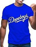 Swag Point Hip Hop T-Shirt - Funny Vintage Street wear Hipster Parody (XL, DOPE-Blue)