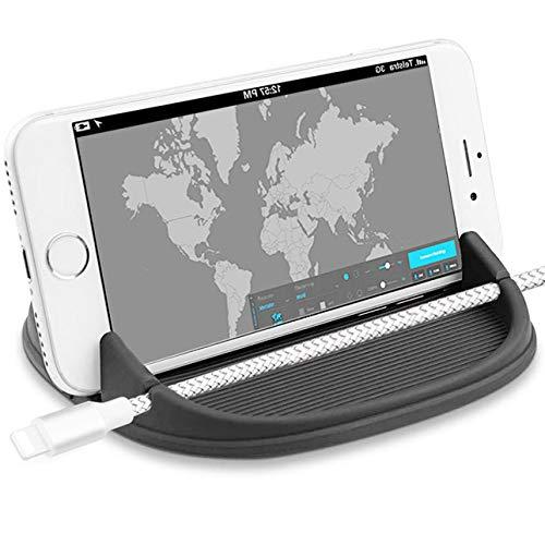 ZOORE Handyhalterung Auto, Kfz Armaturenbrett Universal rutschfest Handyhalter für iPhone XR XS Max X 8 7 6, Samsung Note 8 Galaxy S9 Plus, LG, Huawei, und 3-7 Zoll Andere Telefon oder GPS-Geräte