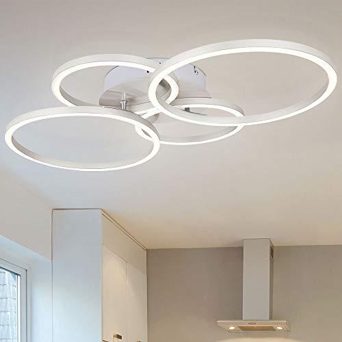 LED Design Decken Strahler Leuchte silber Wohn Ess Zimmer Ringe Lampe Spot Beleuchtung