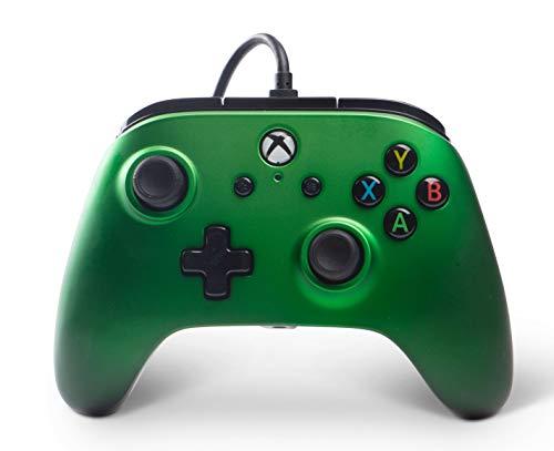 XBOX ONE Manette filaire pour Xbox One - PowerA - Emeraude Fade