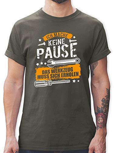 Handwerk - Ich Mache Keine Pause, das Werkzeug muss Sich erholen - L - Dunkelgrau - t Shirts mit sprüchen - L190 - Tshirt Herren und Männer T-Shirts