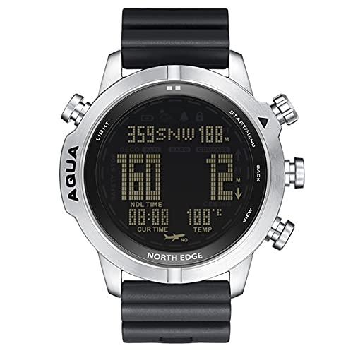 Reloj Digital De Buceo para Hombre, Reloj Inteligente para Deportes Al Aire Libre con Buceo NDL (Tiempo Sin Paradas) 100M Brújula Impermeable Altímetro Barómetro Función De Luz De Fondo