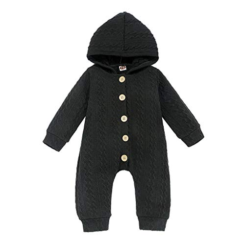 DWQuee ❤️ Baby Strickoverall, Winter Neugeborene Mädchen Jungen Warme Strickpullover Strampler Overall Outfits (0-24 Monate)