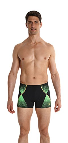 Speedo - Fit Pinnacle Aqua Short de bain - Homme - Noir (Noir/Vert Fluo/Or Global) - FR: 75 (Taille Fabricant: 30)