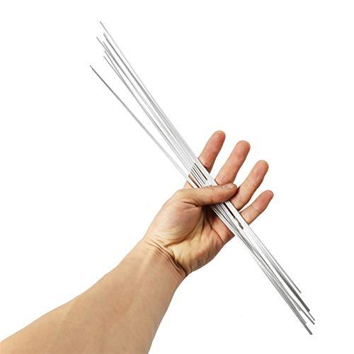 jidan Bequemer haltbarer Elektrodenschweißdraht 10/20 / 50PCS 2 mm * 500mm Niedertemperatur-Aluminium-Schweißdraht flußmittelkernhaltigen Al Löten Rod No Need Lotpulver (Material : 10 pcs)