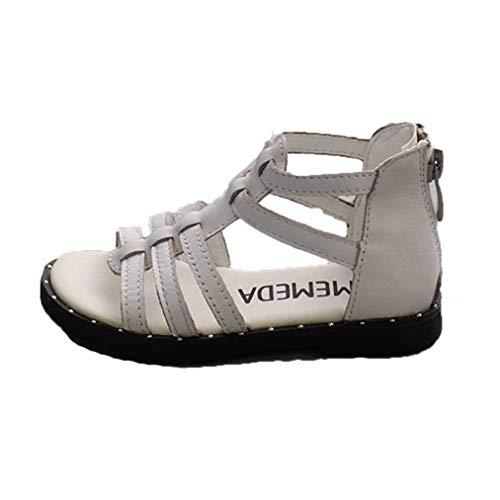 Mädchen Roman Rivet Sandalen Sommer Atmungsaktive Casual Open Toe Zip High Top Flache Schuhe Leichte rutschfeste Kids Beach Sandalen