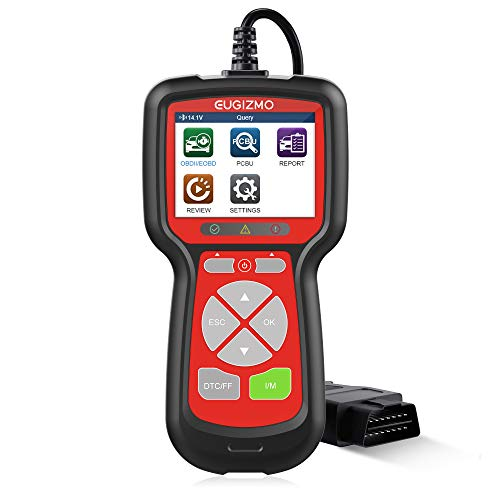 EUGIZMO OBD2 Scanner Universal Car Engine Fault Code Reader, Diagnostic Scan Tool for All CAN OBD II Protocol Cars, OBDII Diagnostic Tool Car Code Reader Automotive Tools for Check Engine Light, RED