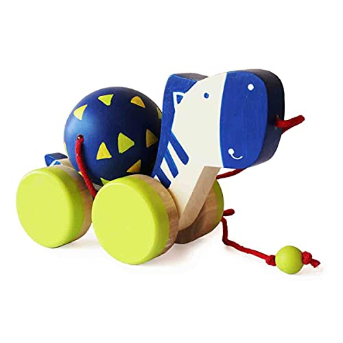 Shumee Wooden Zeebo- The Zebra Pull Along Toy (1 Year+) with Attached String- Encourage Walking, Develop Hand-Eye Coordination and Gross Motor Skills